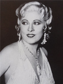 Mae West on her way to the top.