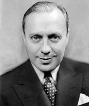 Benny, 1933. Benny was already the host of NBC's weekly radio program The Jack Benny Show.  In character, he would claim to be 39 years old, as he is here, regardless of his actual age.