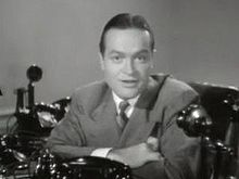 Bob Hope, 1940, in a trailer for The Ghost Breakers. Hope began his career on the radio and in the movies in 1934. He started his regular TV specials in 1954 and hosted the Academy Awards fourteen times from 1941 to 1978.