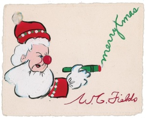 1946 W.C. Fields Christmas card