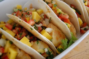 Fish tacos with mango. Photo by: jpellgen